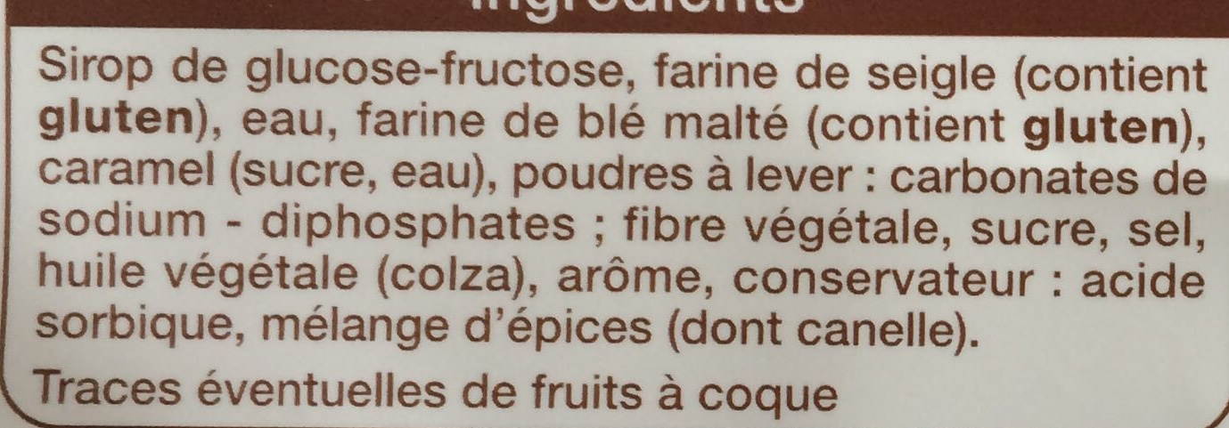 Pain d'épices fondant - Ingrediënten