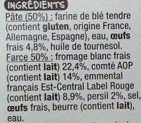 Ravioles du Dauphiné aux oeufs frais - Ingrediënten - fr