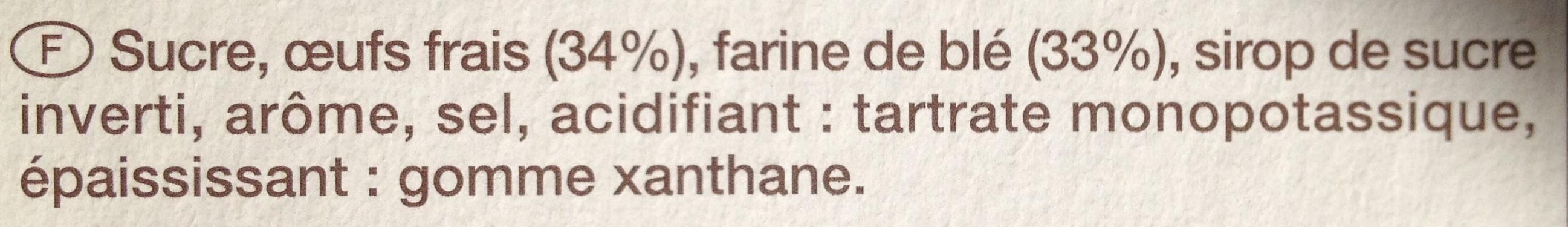 Cuillers - Ingrédients - fr