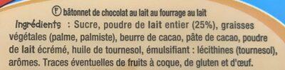 Barres Chocolat - Ingredientes