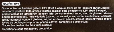 8 douceurs croustillantes aux noisettes - Ingredients