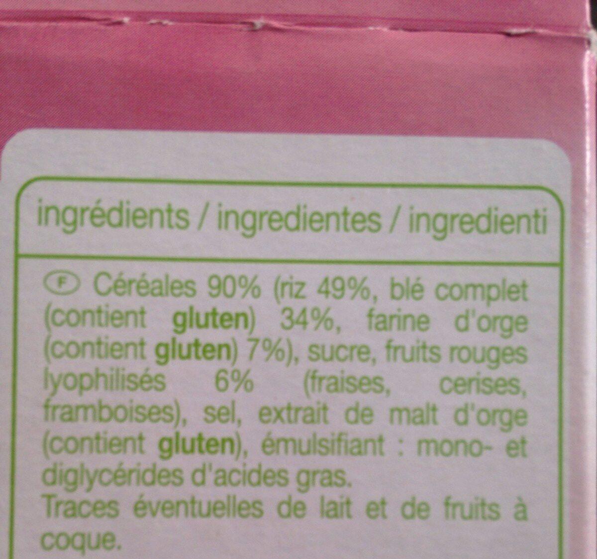 Deliform fruits rouge - Ingrédients - fr