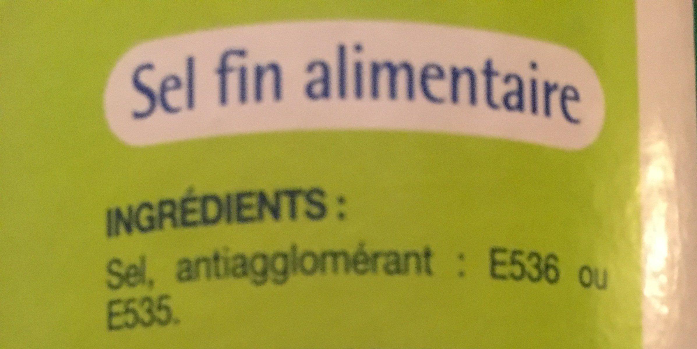 Sel de table fin - Ingrediënten