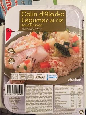 Colin d'Alaska, légumes et riz sauce citron - Product