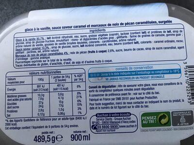 Crème Glacée Vanille Caramel Noix De Pécan - Product - fr