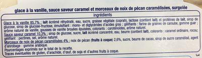 Crème Glacée Vanille Caramel Noix De Pécan - Ingredients - fr