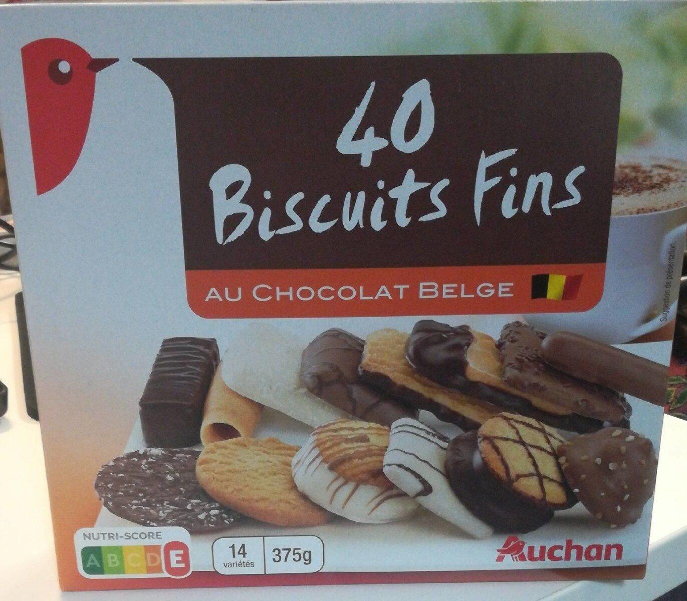 Assortiment de 40 Biscuits fins au chocolat belge - Produit