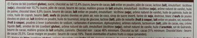 Assortiment de 40 Biscuits fins au chocolat belge - Ingrédients
