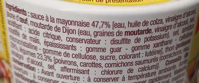 Thon Sauce Mayonnaise - Ingredienti - fr