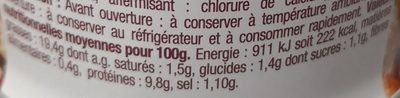Thon Sauce Mayonnaise - Valori nutrizionali - fr