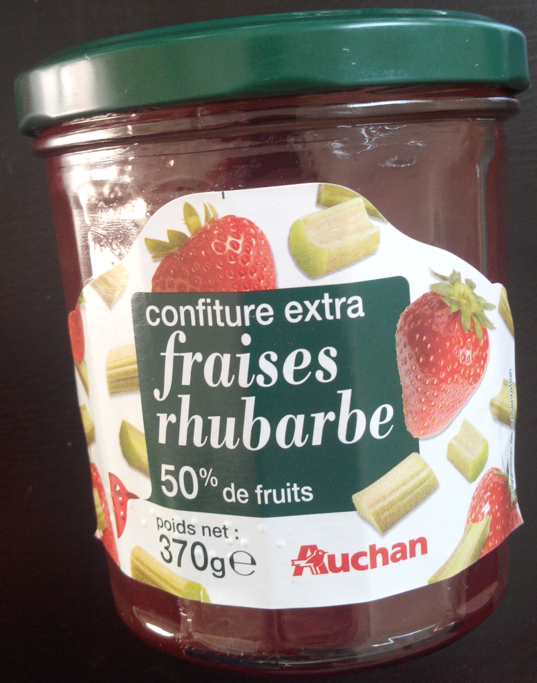 Confiture extra fraises rhubarbe - Produit