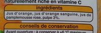 Fruits pressés 100% pur jus 3 agrumes - Ingrédients