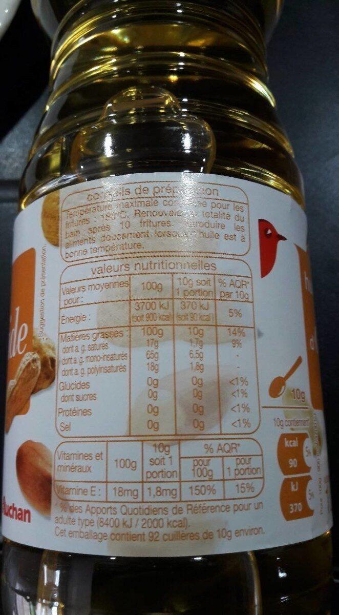 Huile d'arachide - Informations nutritionnelles - fr