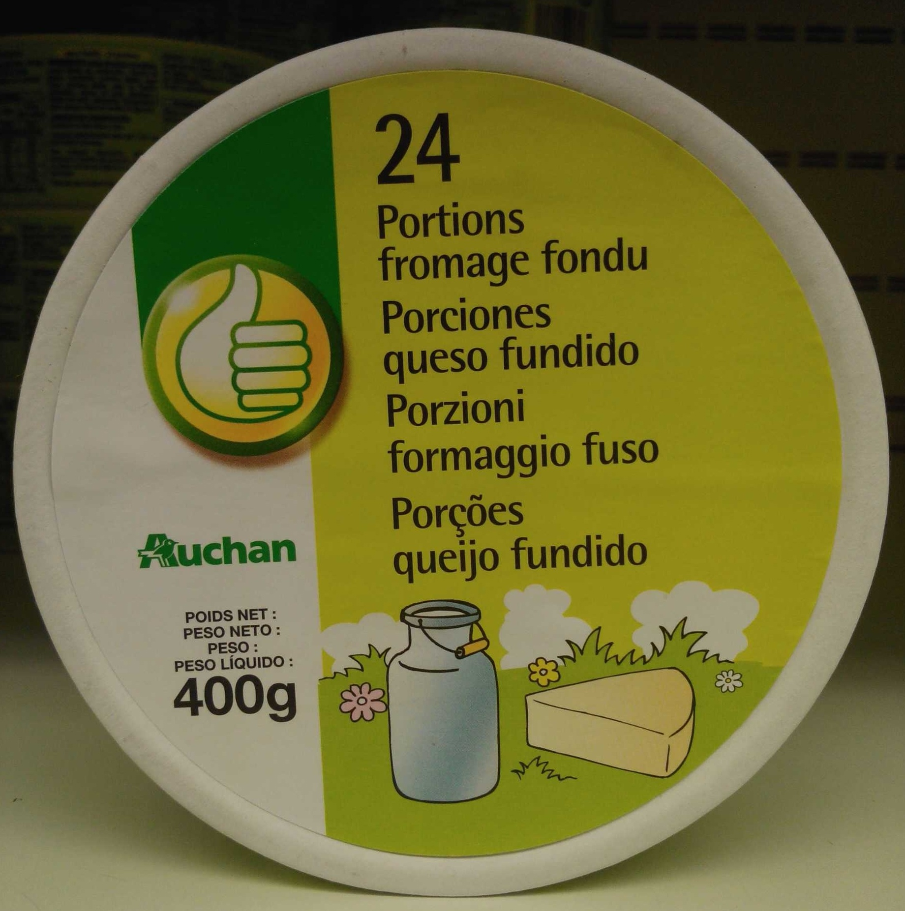 24 Portions Fromage Fondu (19,5% MG) - Product - fr