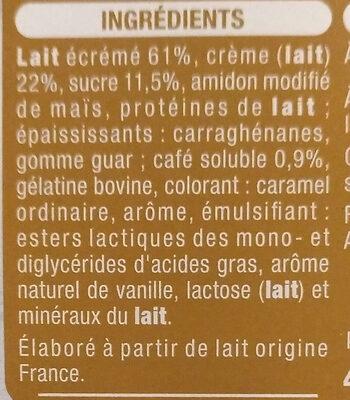 Liégeois au Café (4 pots) - Ingrédients - fr