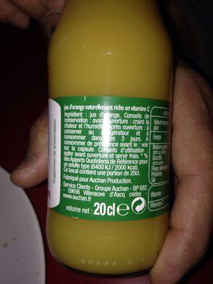 100% pur jus orange - Ingrédients - fr