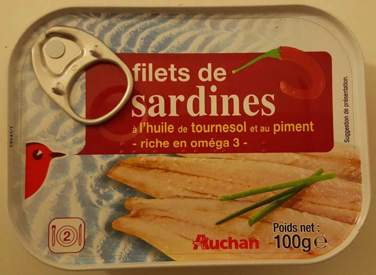 filets de sardines l 39 huile de tournesol et au piment. Black Bedroom Furniture Sets. Home Design Ideas