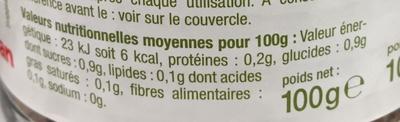 Café soluble lyophilisé - Voedingswaarden - fr