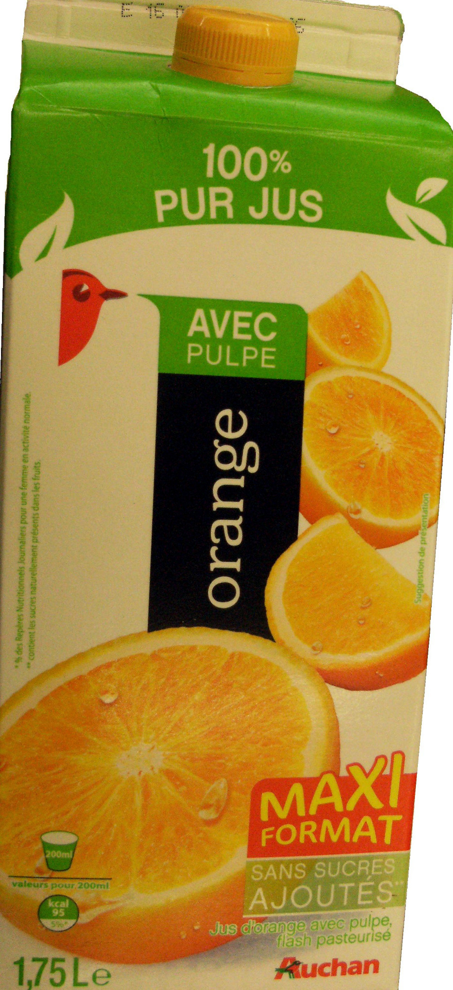 100 % Pur Jus orange (Avec Pulpe) - Product - fr