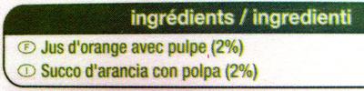 100 % Pur Jus orange (Avec Pulpe) - Ingredients - fr