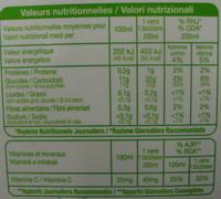 100 % Pur Jus orange (Avec Pulpe) - Nutrition facts - fr