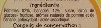 Spécialité de Fruits Pomme Banane - Ingredients
