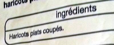 Haricots plats - Ingrediënten