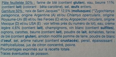 4 feuilletés Noix de Saint-Jacques - Inhaltsstoffe - fr
