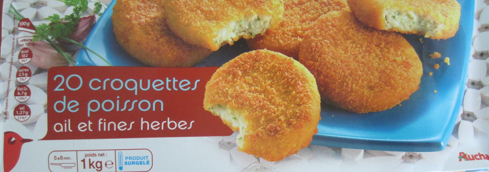 20 croquettes de poisson ail et fines herbes - 1 kg - Auchan - Product
