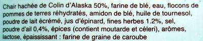 20 croquettes de poisson ail et fines herbes - 1 kg - Auchan - Ingrediënten
