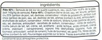 Tortellini Jambon cru - Ingrédients