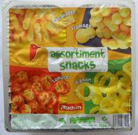 Assortiment snacks (cacahuète, fromage, tomate, oignon) - Produit - fr