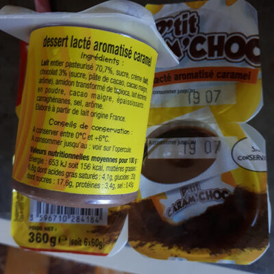 Caram'choc - Ingredients