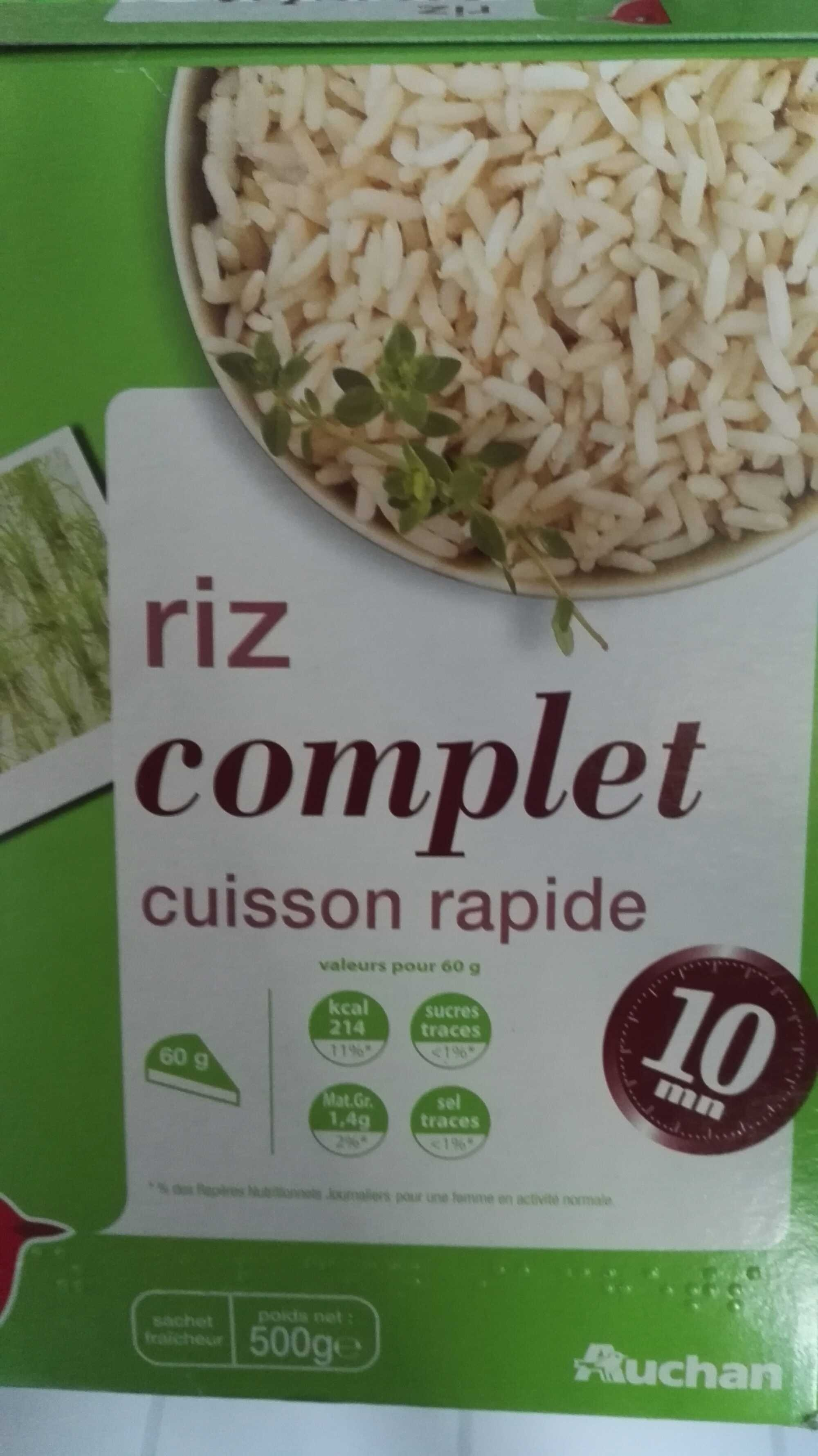 cuisson riz complet