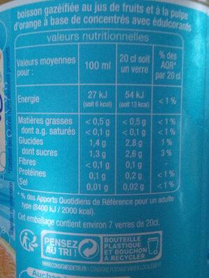 Pulpee a l'orange light - Informations nutritionnelles