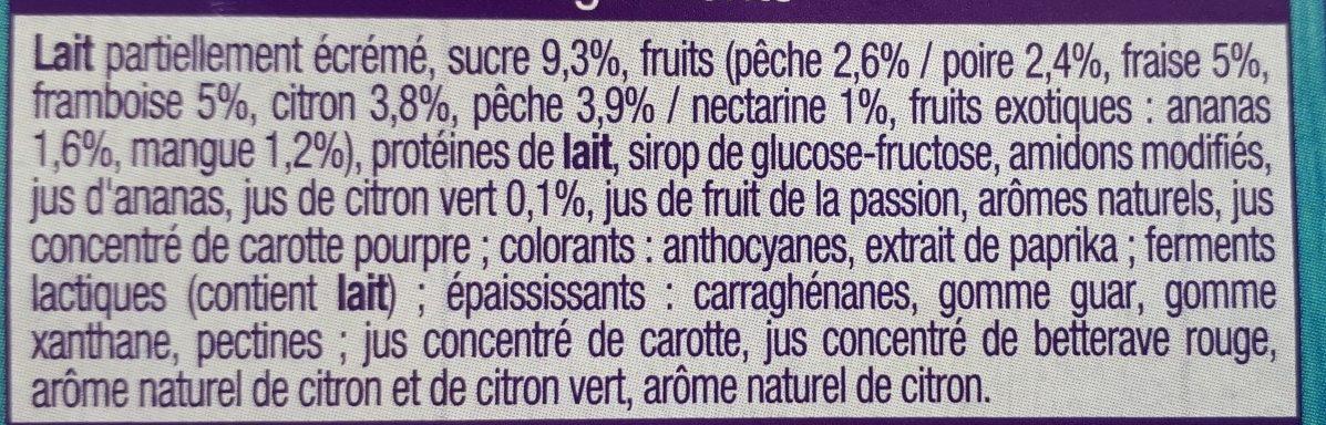 Les mixés - 6 saveur sans morceaux - Ingredients