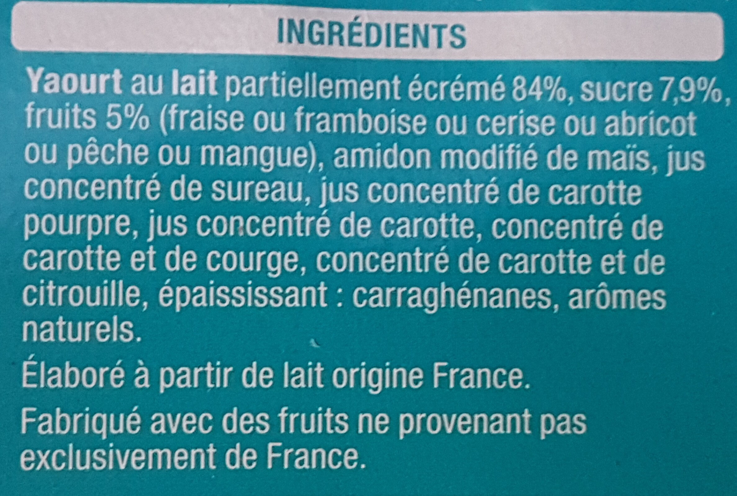 Les mixés - 6 saveur sans morceaux - Ingrédients - fr