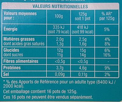Les mixés - 6 saveur sans morceaux - Informations nutritionnelles - fr