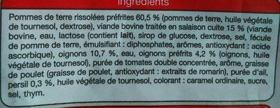 Poêlée campagnarde, Surgelé - Inhaltsstoffe