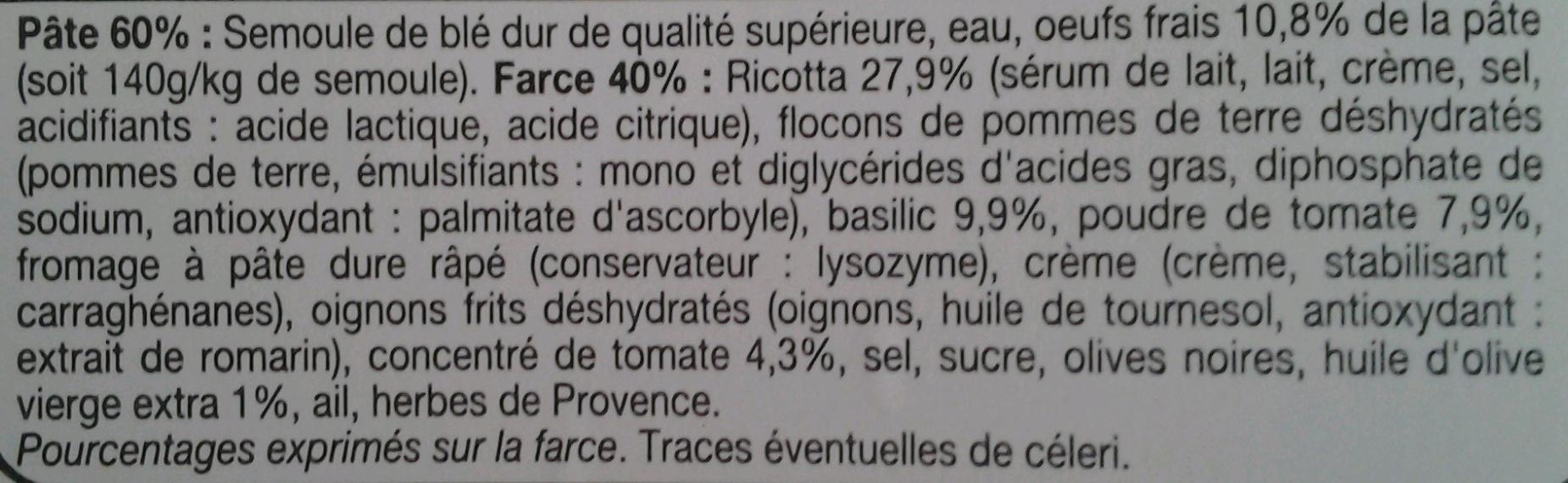 Demi-Lunes Tomate Basilic - Ingrédients - fr