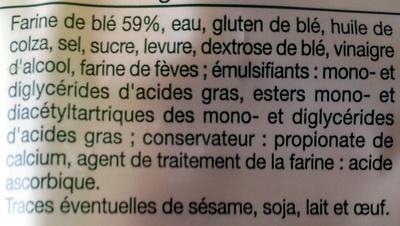 Pain de mie Nature - Recette Anglaise - Ingrediënten - fr