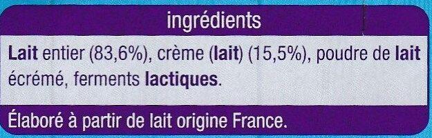 Yaourt à la grecque - Ingrédients - fr