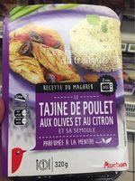Tajine de Poulet aux Olives et au Citron et sa Semoule Parfumée à la Menthe - Produit