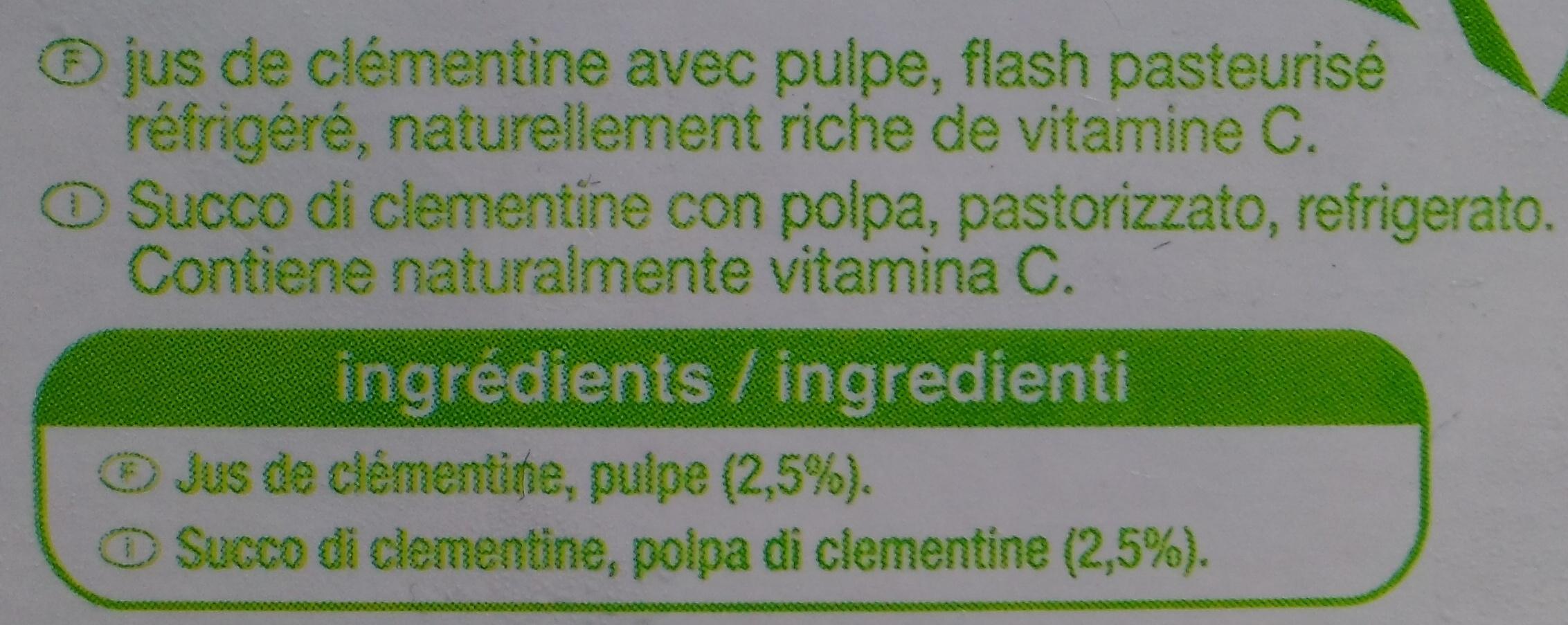 Jus de clémentine 100% jus - Ingrediënten - fr