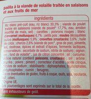 Paella Volaille et Fruits de mer - Ingrédients - fr