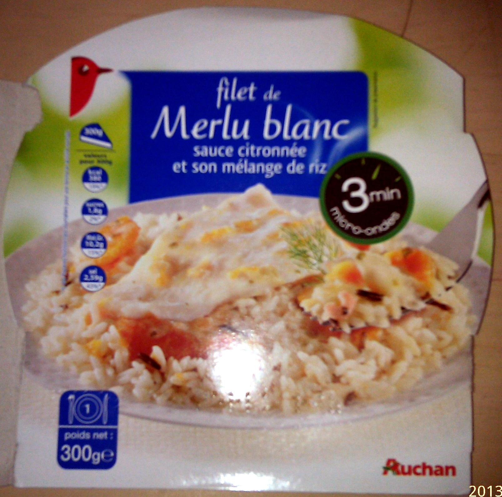 Filet de Merlu Blanc, sauce citronnée et son mélange de riz - Product - fr