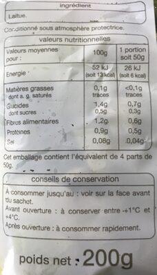 Cœur de laitue - Ingrédients - fr