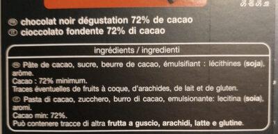 Noir Dégustation 72% - Ingredients