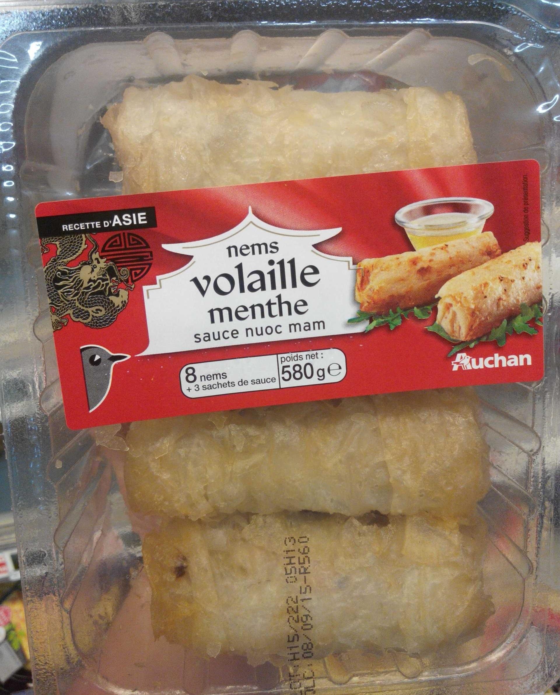 Nems volaille menthe sauce nuoc mam (8 nems + 3 sachets de sauce) - Product - fr