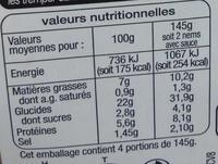 Nems volaille menthe sauce nuoc mam (8 nems + 3 sachets de sauce) - Nutrition facts - fr